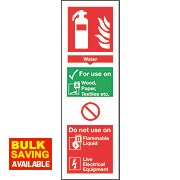 Nite-Glo Water Extinguisher Sign 300 x 100mm