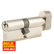 Union 6-Pin Thumbturn Euro Cylinder Lock 40-40 (80mm) Satin Nickel