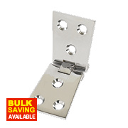 Counter Flap Hinge Polished Chrome 102 x 38mm Pack of 2