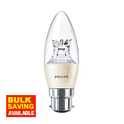 Philips LED Candle Lamp Clear BC 6W