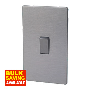 LAP 2-Gang 45A DP Cooker Switch Slate Effect