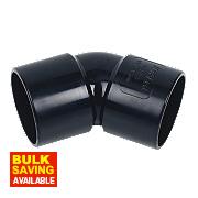 FloPlast Solvent Weld 32mm 135 Bend Black Pack of 5