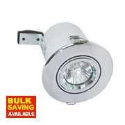Robus Adjustable Round Low Voltage Fire Rated Downlight Polished Chrome 12V
