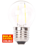 LAP Globe LED Filament Lamp Clear ES 4W