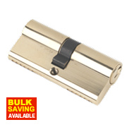 Securefast 6-Pin Euro Cylinder Lock 35-35 (70mm) Polished Brass