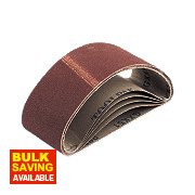Cloth Sanding Belts Unpunched 40 x 305mm 80 Grit Pack of 5