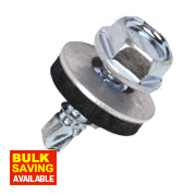 Rawlplug High Tensile Steel Self-Drilling Screws w/Washers 4.8 x 16mm Pk100