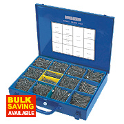 Silverscrew Woodscrews Expert Trade Case Double-Countersunk 2800Pcs