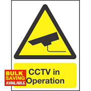 """CCTV In Operation"" Sign 200 x 150mm"