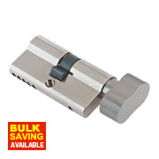 Century 5-Pin Euro Double Cylinder Lock with Thumbturn 35-35 (70mm) Nickel