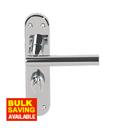 Serozzetta System Lever on Backplate WC Door Handle Pair Polished Chrome