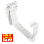 White Square Line Fascia Bracket 114mm Pack of 10