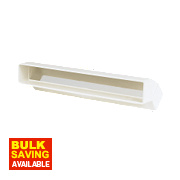 Manrose Vertical 45° Bend White 225mm