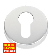 Euro Profile Escutcheon Satin Aluminium 50mm