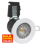 Robus 30, 60 & 90min Fire Rated Fixed LED Downlight IP20 White 3.5W