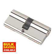 Securefast 6-Pin Euro Cylinder Lock 35-35 (70mm) Polished Nickel