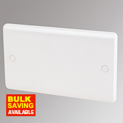 LAP 2-Gang Blank Plate White