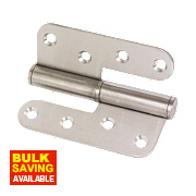 Lift-Off Hinge Satin Stainless Steel Left-Hand 102 x 89mm Pack of 2