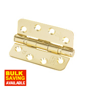Ball Bearing Radius Corners Electro Brass 102 x 76mm Pk3