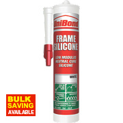 Unibond Silicone Frame Sealant White 300ml