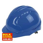 JSP EVO2 Mid Peak Non Vented Slip Ratchet Helmet Blue
