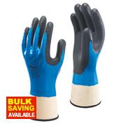 Showa 377 Nitrile Foam Grip Gloves Blue Large