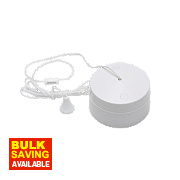 British General 6A 2-Way Pull Cord Switch White