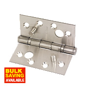 Grade 13 Security Hinge Satin Stainless Steel 102 x 102mm Pack of 2