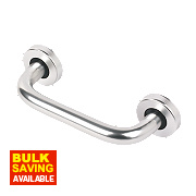 Office D Pull Handle Concealed Fix Satin Aluminium 150mm Pack of 2