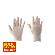 Cleangrip Latex Powdered Disposable Gloves Clear Medium Pk100