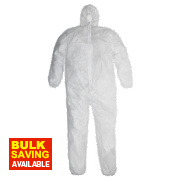 "Disposable Coveralls White XX Large 46-50"" Chest 32"" L"