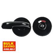 Less Able Bathroom Thumbturn & Release Jet Black