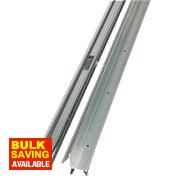 Stormguard 2-Part Trimline Threshold Polished Aluminium 914mm