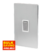 LAP 2-Gang 45A DP Cooker Switch Brushed Chrome