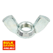 Wing Nuts BZP Steel M12 Pack of 10