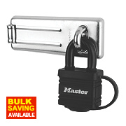 Master Lock Hasp & Staple with Padlock 115mm
