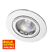 Robus Adjustable Round Mains Voltage Downlight Polished Chrome 240V