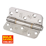 Fire Door Insignia Hinges Satin Stainless Steel 102 x 76mm Pk3