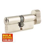 Union 6-Pin Thumbturn Euro Cylinder Lock 35-35 (70mm) Satin Nickel