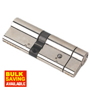 Yale Anti-Snap Euro Double Cylinder Lock 50-40 (90mm) Brushed Nickel