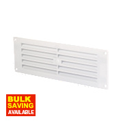 Map Vent Fixed Louvre Vent White 76 x 229mm