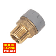 PolyPlumb Male Coupler 15mm x ½""
