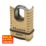 Master Lock Pro Series Solid Brass Closed Shackle Padlock 57mm
