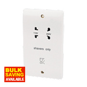 MK Dual Voltage Shaver Socket 115/230V White