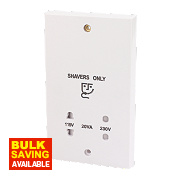 Dual Voltage Shaver Socket 110/240V White