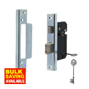 "Securefast 5-Lever Standard Rebated Sashlock Chrome 2.5"" Backset"
