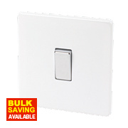 Varilight 1-Gang 10A Ice White Metal Intermediate Rocker Switch