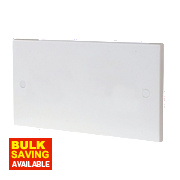 British General 2-Gang Blank Plate White