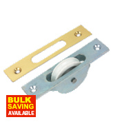 Sash Pulley Zinc-Plated 120mm x 25mm