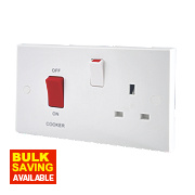 British General 45A Double Pole Switch & 13A Switched Socket White
